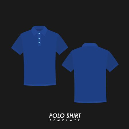Navy blue polo shirt on isolated background