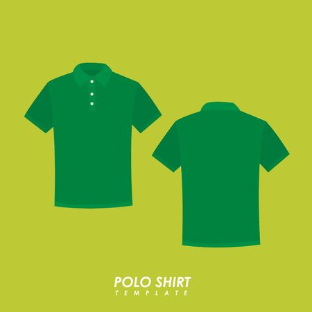 Green polo shirt on isolated background