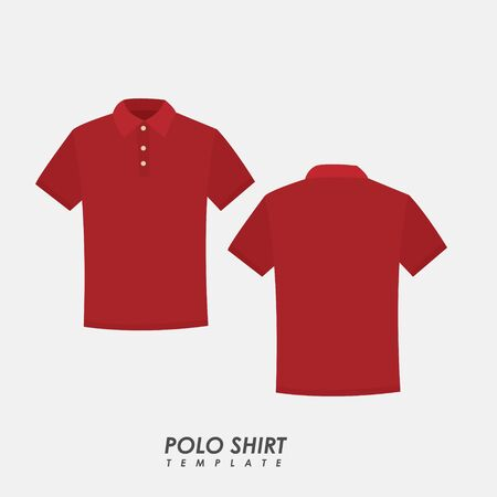 Red polo shirt on isolated background Иллюстрация