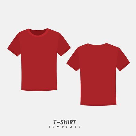 Red t-shirt on isolated background
