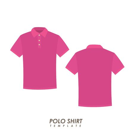 Pink polo shirt on isolated background