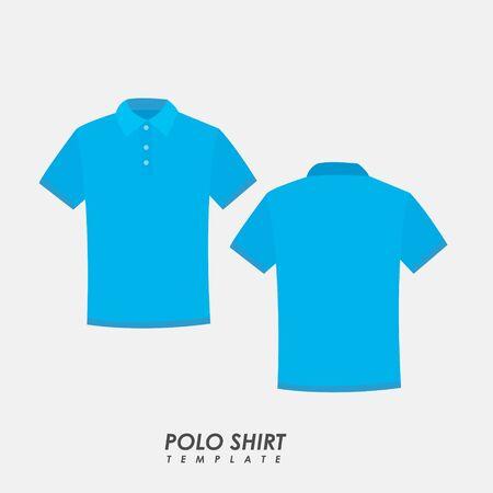 Sky blue polo shirt on isolated background