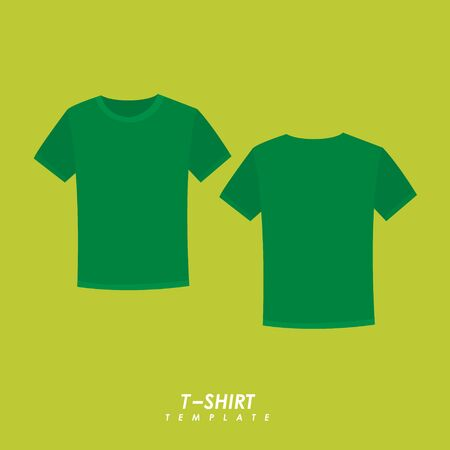 Green t-shirt on isolated background