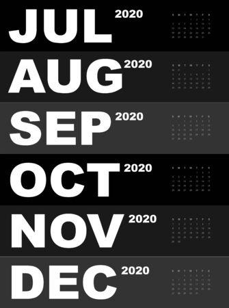 Abstract and modern calendar template of 2020 Фото со стока - 129915044