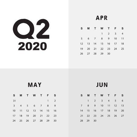 Abstract and modern calendar template of 2020 Фото со стока - 129915175