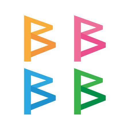 Abstract letter B logo icon design Ilustrace