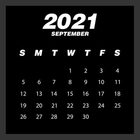Abstract and modern calendar of 2021