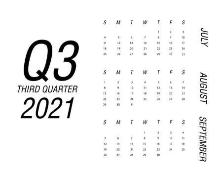 Third quarter of calendar 2021