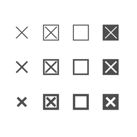 Set of cross or close icon