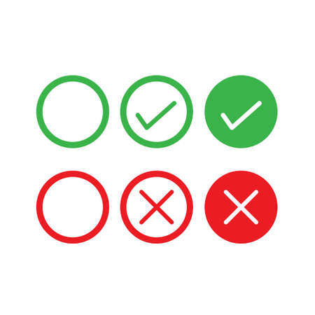 Set of yes and no icon