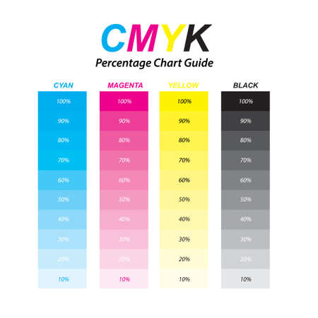 CMYK colour guide reference for printing