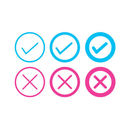 Set of DO and DO NOT modern simple icon Ilustrace