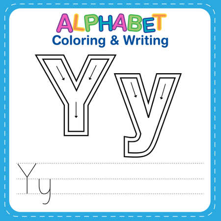 Alphabet coloring and writing for children Reklamní fotografie - 165741508