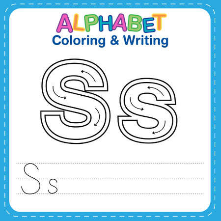 Alphabet coloring and writing for children Reklamní fotografie - 165741522