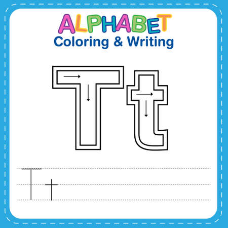 Alphabet coloring and writing for children Reklamní fotografie - 165741525