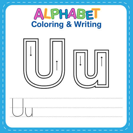 Alphabet coloring and writing for children