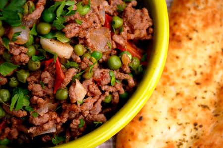 naan: Kheema with naan bread