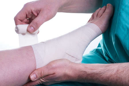 ankle: Sprained Foot, ankle injury fixed by Doctor