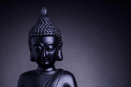 buddah: Statue of the Buddah with grey backlight