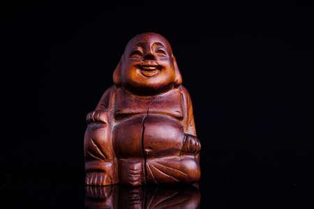 buddah: Statue of the Buddah isolated on black