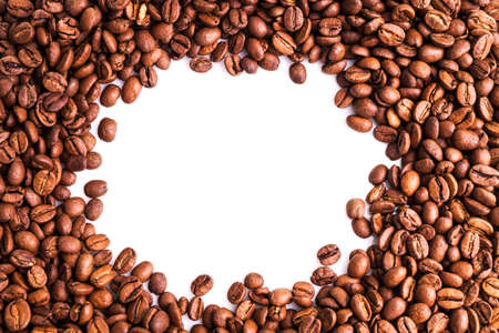 decaffeinated: Coffee Beans, Pile of Many fresh roasted beans