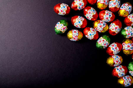 easteregg: Easter egg isolated on Black background with copy space Stock Photo