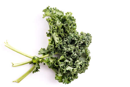 Super Healthy Organic Kale, isolated on white