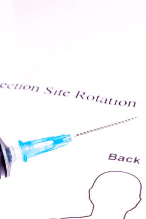 Syringe, Vials, Diabetes injection rotation - Remember form for inject rotation when in Insulin treatment photo
