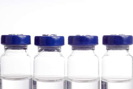 anesthetize: Medicine in vials ready for vaccine injection