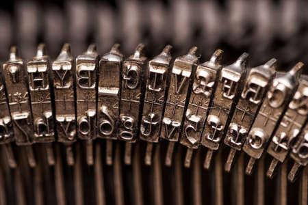 Details on antique typewriter. Vintage and retro Standard-Bild