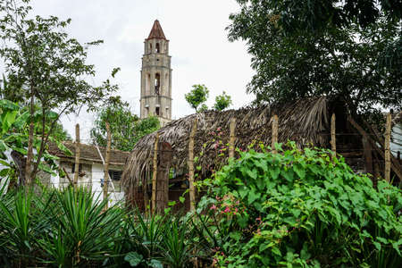 slavery: Valle de los Ingenios, Trinidad, Cuba - January 14, 2016: Slave Tower Manaca Iznaga, which is preserved from Cubas past when slavery was legal. The tower is located in the Valle de los Ingenios and is today a major tourist attraction