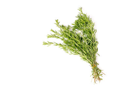 Bunch of organic rosemary isolated on white background