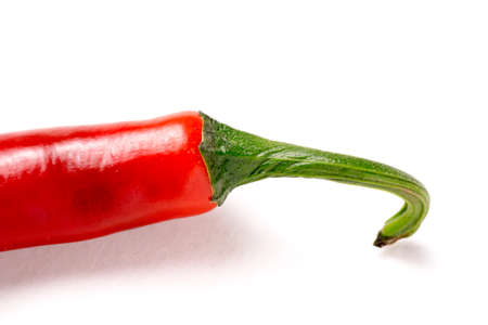 hot red chili pepper isolated on white background