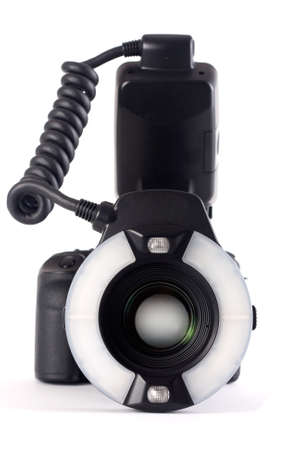ring flash: camera with ring flash Stock Photo