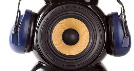 speaker with headphone Stock Photo - 8540094