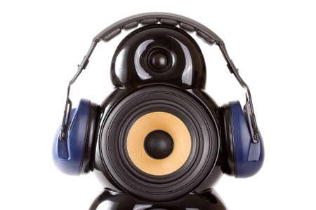 speaker with headphone Stock Photo - 8539653