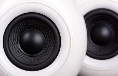 close up of 2 speakers Stock Photo - 8540031