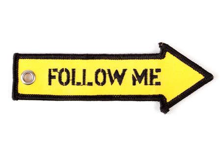 Follow me arrow