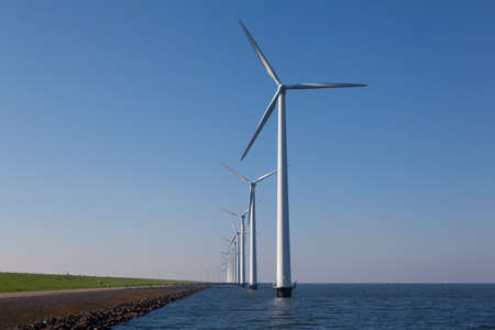 windturbine in the water Stock Photo