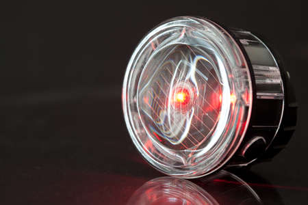 Red LED Light for bicycle Stock Photo - 12434200