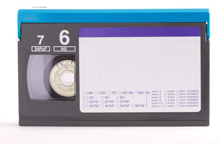 isolated digital tape with label