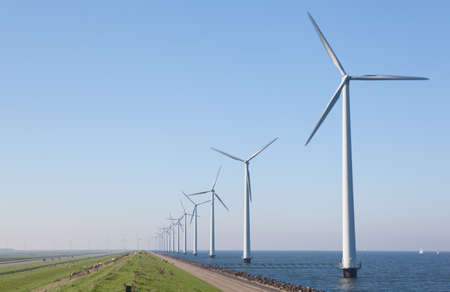 Windturbines in the Netherlands Stock Photo - 12438238