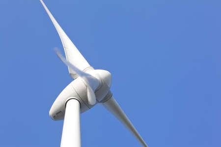 Gros plan van Windturbine Banque d'images