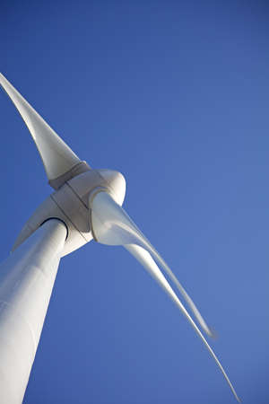 wind turbines: Abstract view of windturbine with a clear blue sky