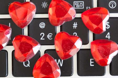 symbole de l'amour sur l'ordinateur