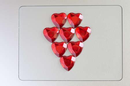Symbole d'amour sur l'ordinateur Banque d'images