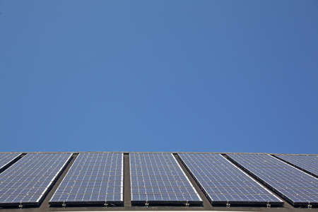 Close up of solar panels photo