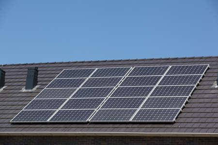 Gros plan sur les panneaux solaires Banque d'images
