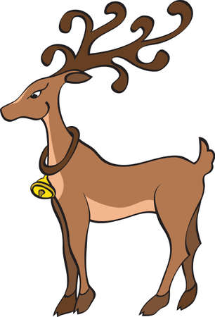 Illustration of a deer isolated on a white background. Stock Vector - 7734666