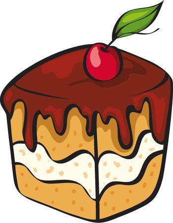 buttercream: piccola torta con ciliegia
